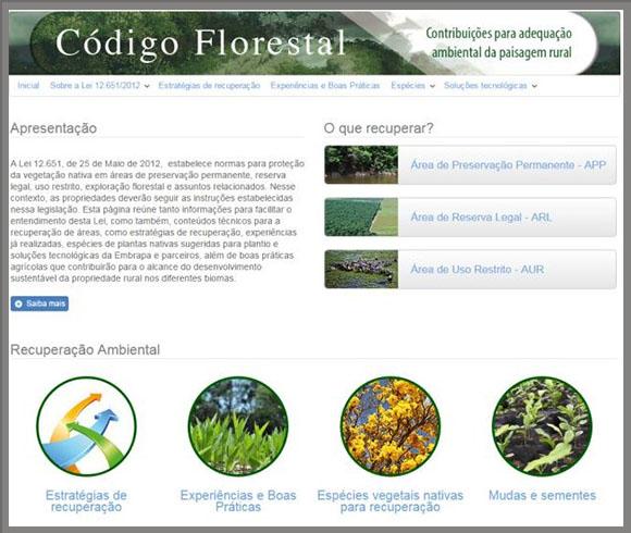 Página reúne dados sobre Código Florestal